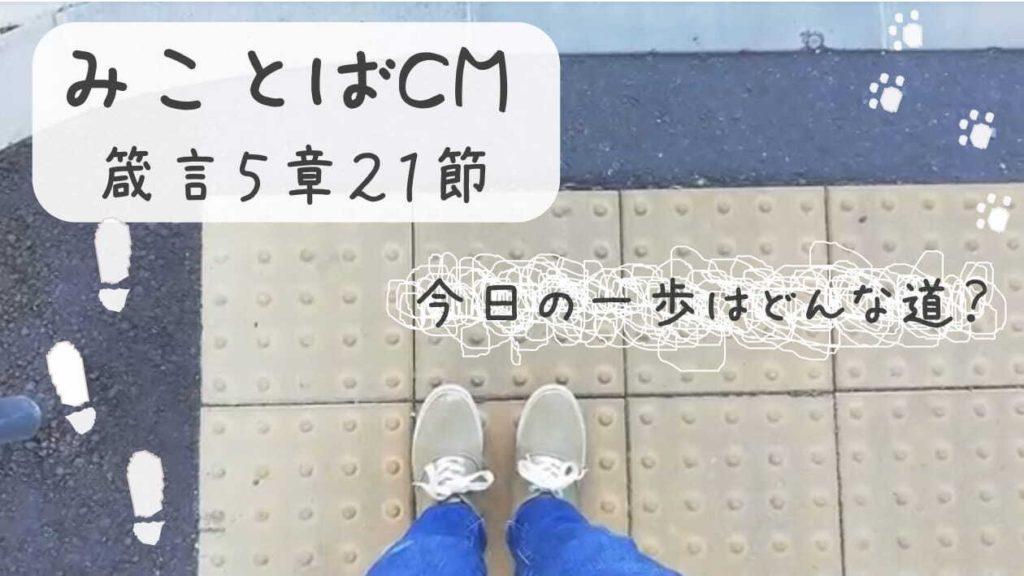 【YouTube】みことばCM動画 第六弾   今日の歩みはどんな道の上?🚶🏻♀️🚶🏻のアイキャッチ画像